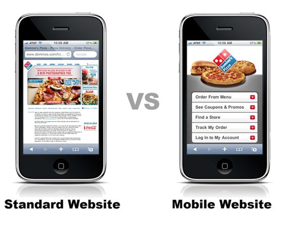 So sánh thiết kế website thương và thiết kế website mobile